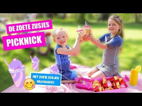 D.I.Y. PICKNICKEN met DE ZOETE ZUSJES!! [Met Super Lekkere Zoete Zusjes Milkshake!]