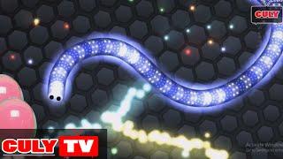 Thử thách 10 phút chơi rắn săn mồi Slither.io | Cu lỳ chơi game #2 | gameplay for kid