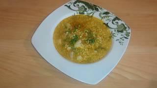 Суп с булгуром. Очень простой, но питательный и вкусный.