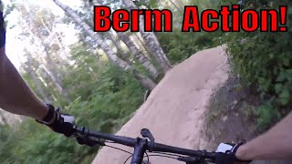 Snowkraft Berm Action from August 9, 2018 - With the Fat Bike!