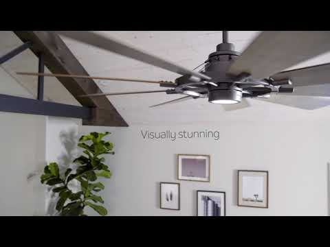 Video for Gentry Anvil Iron LED 65-Inch Ceiling Fan