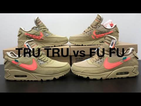 REAL VS FAKE NIKE OFF WHITE AIR MAX 90 DESERT ORE Mango Mango Review & On Feet