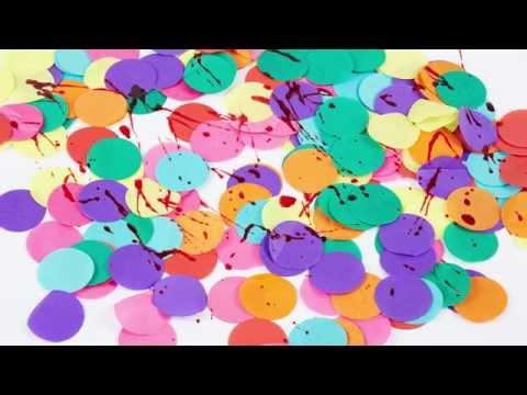 Bebloede confetti voor Halloween