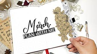 KRAFT/BROWN PAPER DUTCH DOOR - March 2020 Bullet Journal Plan With Me | Little Miss Rose