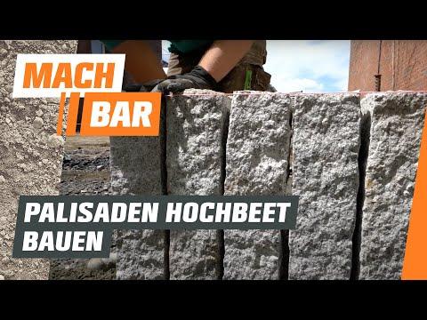 Hochbeet bauen aus Palisaden | OBI