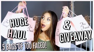 INSANELY HUGE TOO FACED HAUL & GIVEAWAY! ♡ Adyel Juergensen