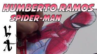 Humberto Ramos Drawing Peter Parker Spider-Man