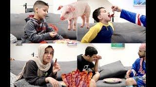 MUSLIM KIDS EATING BACON PRANK!!