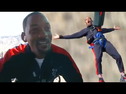 Watch Will Smith Bungee Jump Out of a Helicopter Into the Grand Canyon for 50th Birthday!