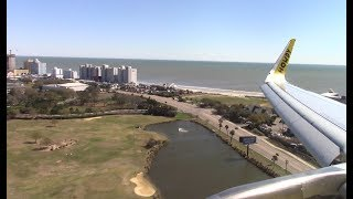 Beach View | Spirit Airlines A321 Landing in Myrtle Beach [HD]