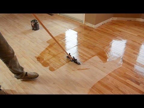 Hardwood floor refinishing by trial and error