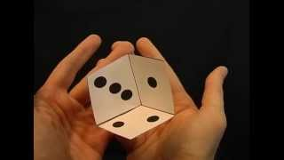 Optical Illusions Ecards, Floating dice animation optical Illusions