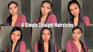 6 Simple Quick & Easy Hairstyles💛  Long Hair