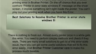 Brother printer error state