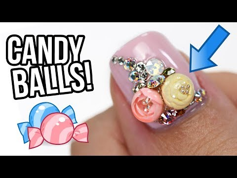 Make Candy Ball Flowers For Your Nails!