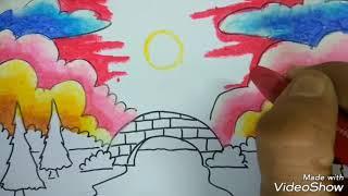 Download Tips Cara Mewarnai Juara 1 Mewarnai Pemandangan Masjid