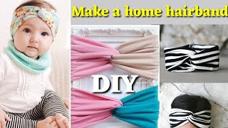 Cute Baby Hairband DIY Unique Idea Old Cloths Use