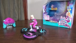 Barbie Star Light Adventure - RC Flying Hoverboard - Review and Flight