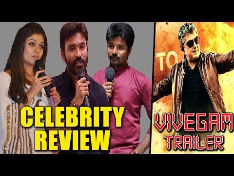 Vivegam Official Trailer Celebrities Reviews & Reactions | Siva karthikeyan, Dhanush, Nayanthara
