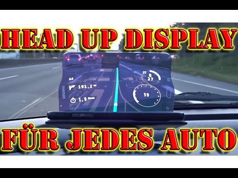 Head Up Display nachrüsten / Handy HUD Display - Hudway Glass Test / Review Deutsch