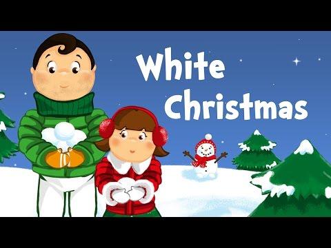 White Christmas (christmas song for kids with lyrics)