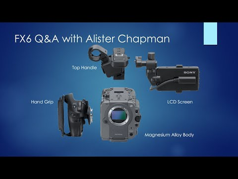 Last week Sony Independent Certified Expert Alister Chapman joined us for a Q&A live stream dedicated to the Sony FX6, which he recently picked up from our office.