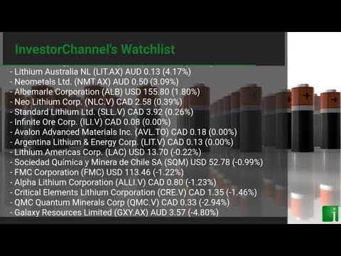 InvestorChannel's Lithium Watchlist Update for Thursday, A ... Thumbnail