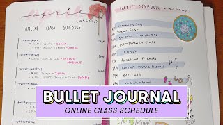 How to Make an Online Class Schedule in Your Bullet Journal | DIY #WithMe
