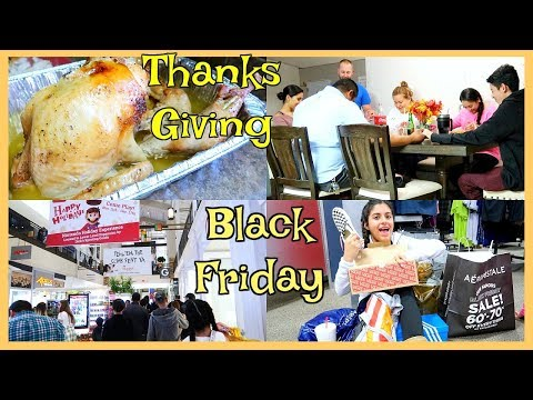 Dia De ThanksGiving 🦃 La Gran Locura De Black Friday - Nov, 23, 17 ♡IsabelVlogs♡