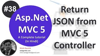 (#38) Return JSON from MVC Controller | mvc tutorial for beginners in .net c#