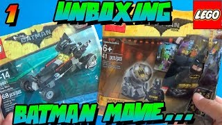 UNBOXING - THE LEGO BATMAN MOVIE - BATMOBILE & BAT SIGNAL
