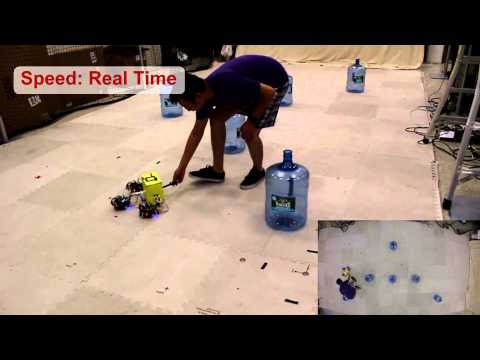 Kinematic Multi-Robot Manipulation with no Communication Using Force Feedback