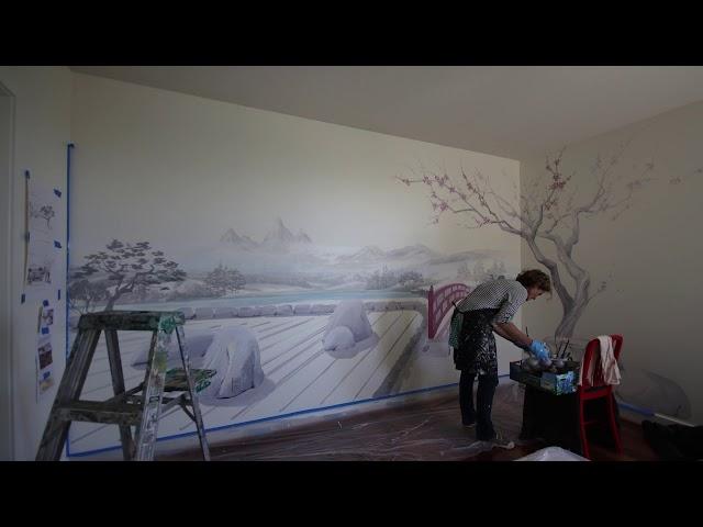 Zen Garden Mural inspired by Kyoto