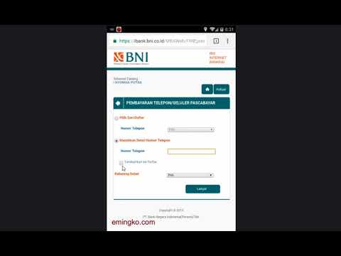 Cara Bayar Tagihan Kartu Halo Via BNI Internet Banking
