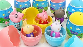 What's in it? Colorful Peppa Pig Eggs! Let's play together Baby Shark Pinkfong   PinkyPopTOY