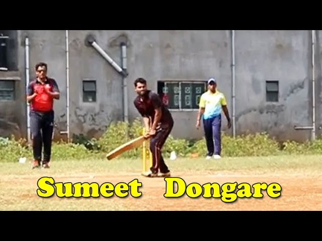 Sumeet-dongare-batting-in-pusegaon