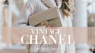 UNBOXING MY FIRST CHANEL BAG! // Vintage Pre-Loved Classic Flap // Fashion Mumblr