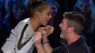 Comedian Gets Simon And Mel B Out Of Control!