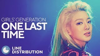 GIRLS' GENERATION - One Last Time (Line Distribution)