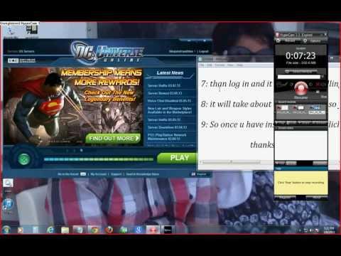 comment installer dc universe online pc
