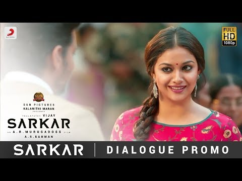 Download Sarkar  - OMG Ponnu Dialogue Promo | Thalapathy Vijay, Keerthy Suresh | A .R. Rahman HD Mp4 3GP Video and MP3