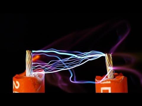 High Voltage Electricity and Water - 4k Slow Motion & Ultra Slow Motion