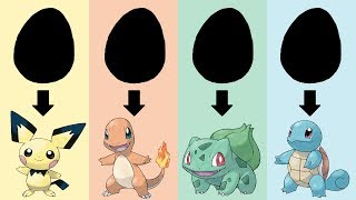 Download Youtube: Pokemon Eggs Requests #1: Starters Gen 1 & Pichu Eggs