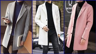 New Men Wool Blend Coat || Men Casual Trench Coat Collection || Mens Long Camel Coat Design
