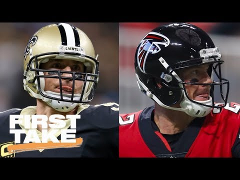First Take makes predictions for Saints-Falcons game | First Take | ESPN