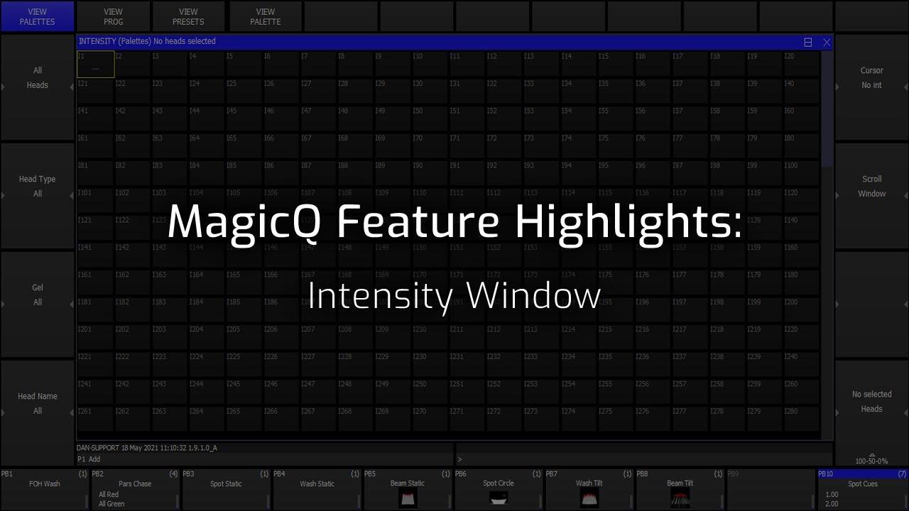 Intensity Window