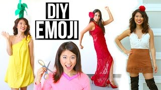 5 DIY Halloween Costumes Ideas For Girls! Emoji Ideas!