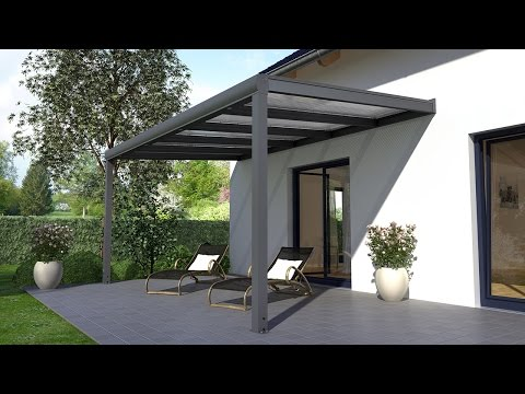Alu Terrassenüberdachung Aufbauanleitung (REXOpremium) - Terrassendach selbst bauen!