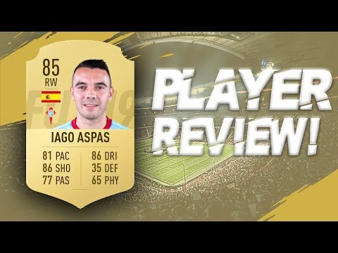 FIFA 19 - 85 RATED IAGO ASPAS PLAYER REVIEW | FIFA 19 ULTIMATE TEAM PLAYER REVIEW