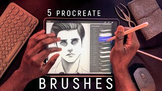 My Top 5 Sketching Brushes in Procreate!